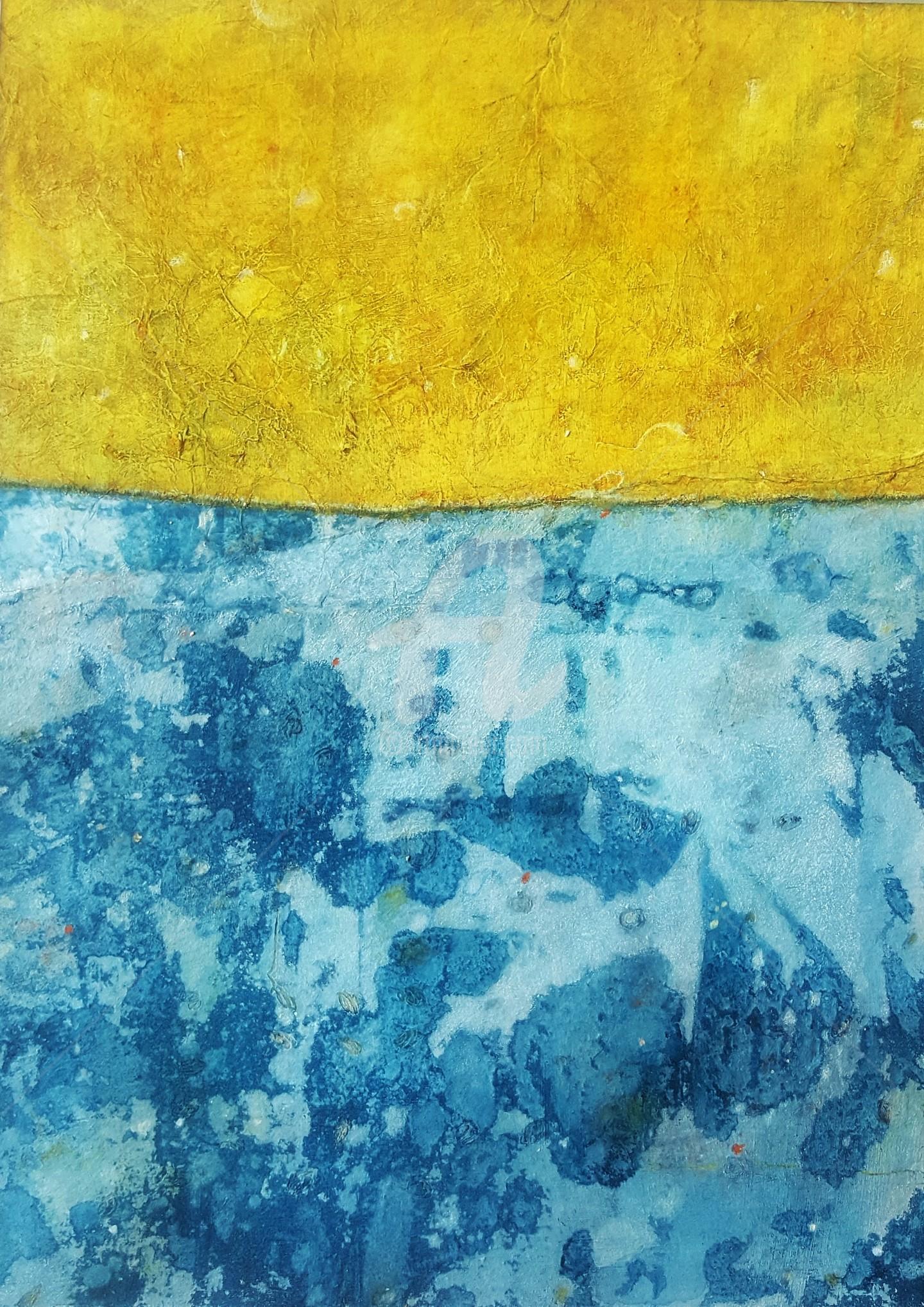 """Karin Martina Wloczyk - """"Yellow meets Blue"""" aus der Serie """"Begegnungen"""""""